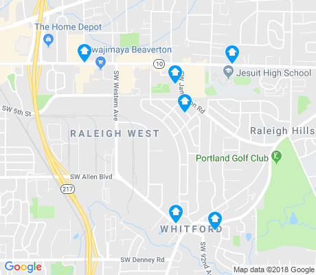 map of Raleigh West apartments for rent