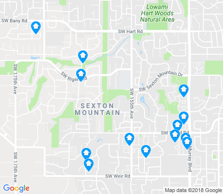 map of Sexton Mountain apartments for rent