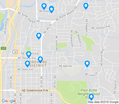 map of Orchard District apartments for rent