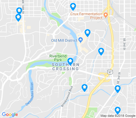 map of Southern Crossing apartments for rent