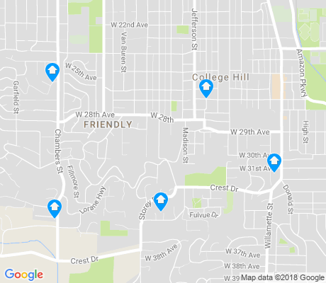 map of Crest Drive apartments for rent