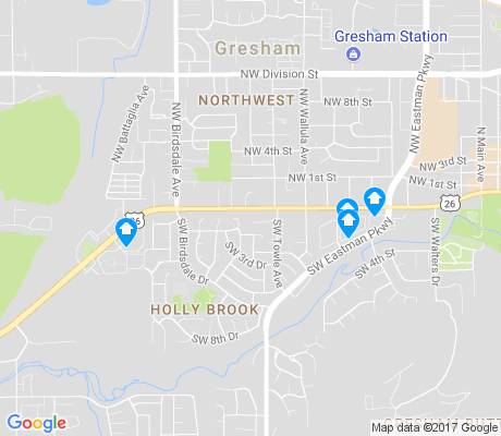 map of Holly Brook apartments for rent