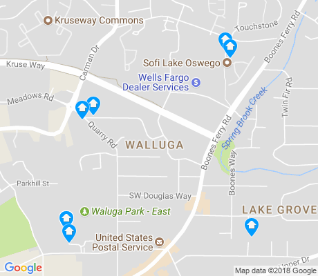 map of Walluga apartments for rent