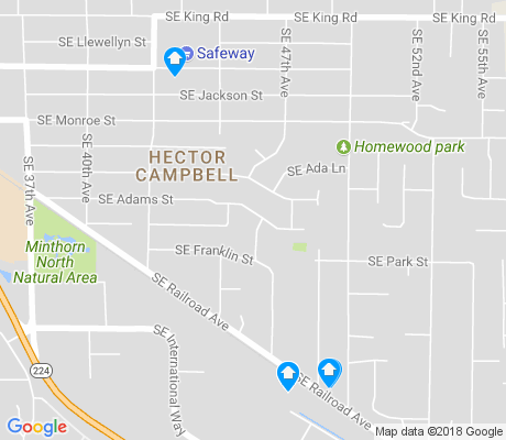map of Hector Campbell apartments for rent