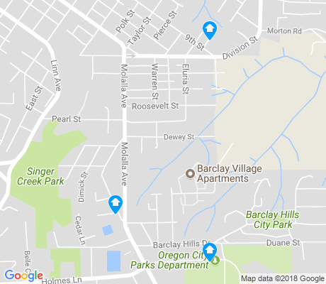 map of Barclay Hills apartments for rent
