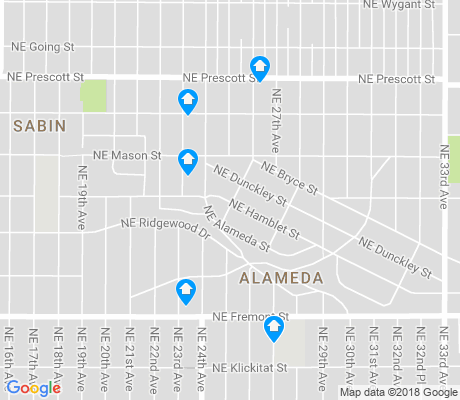 map of Alameda apartments for rent