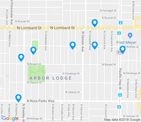 map of Arbor Lodge apartments for rent