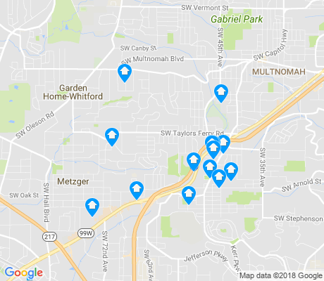 map of Ashcreek apartments for rent