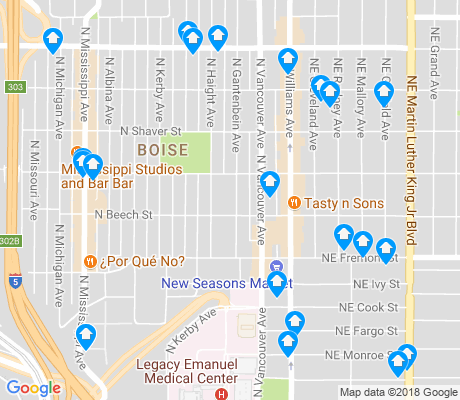 map of Boise apartments for rent