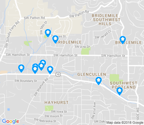 map of Bridlemile apartments for rent