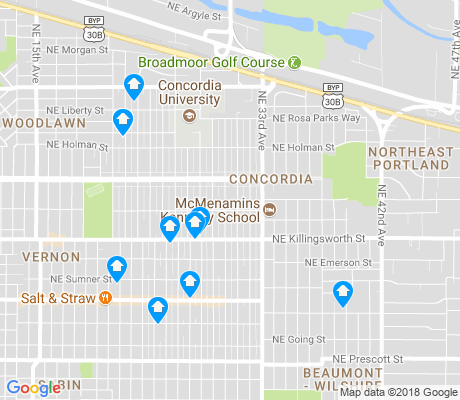 map of Concordia apartments for rent