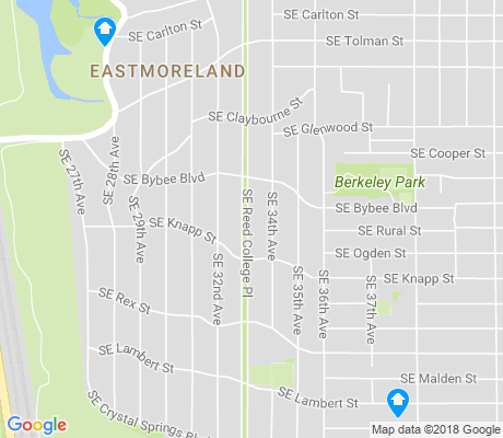 map of Eastmoreland apartments for rent