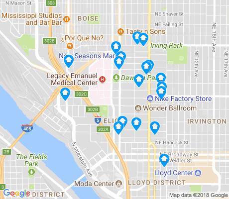 map of Eliot apartments for rent