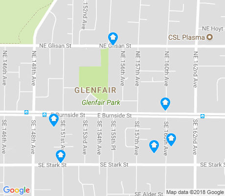 map of Glenfair apartments for rent