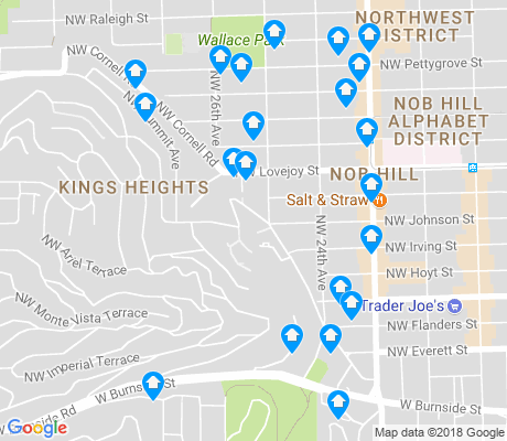 map of Hillside apartments for rent