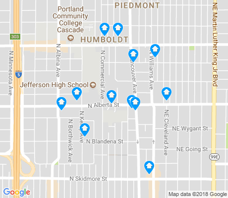 map of Humboldt apartments for rent