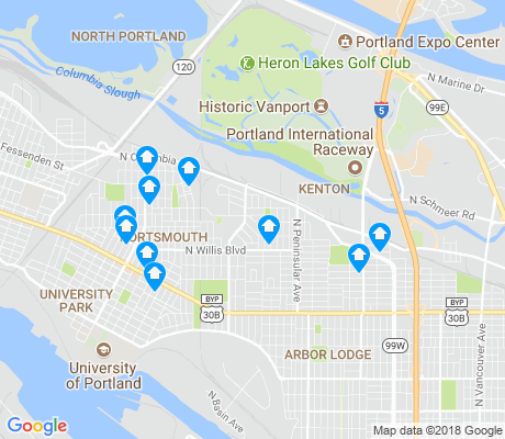 map of Kenton apartments for rent