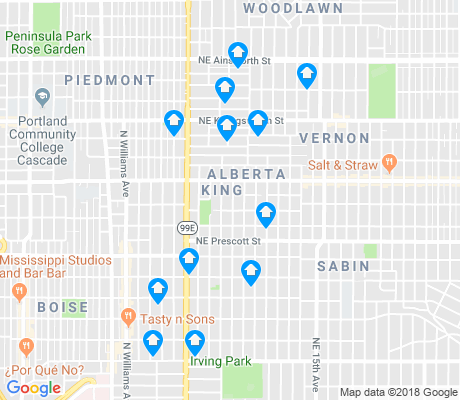 map of King apartments for rent