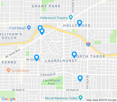 map of Laurelhurst apartments for rent