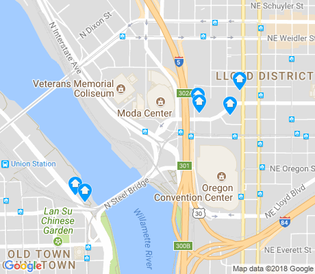map of Lloyd District apartments for rent