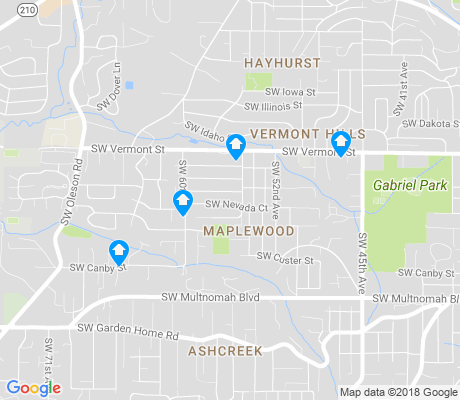 map of Maplewood apartments for rent