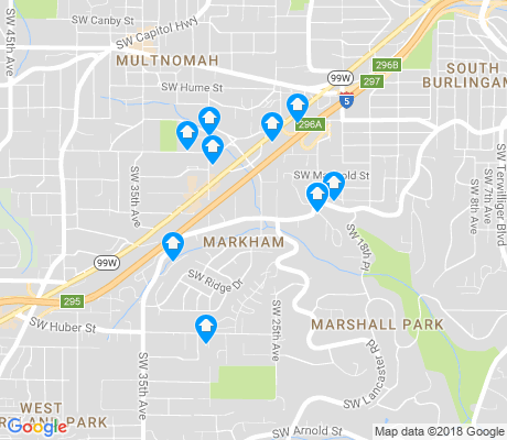 map of Markham apartments for rent