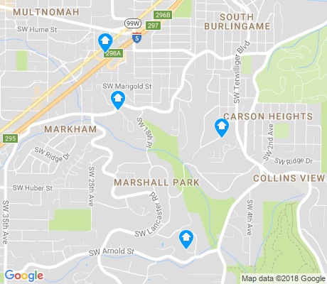 map of Marshall Park apartments for rent