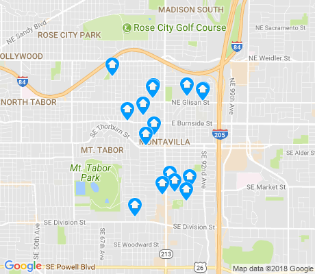map of Montavilla apartments for rent