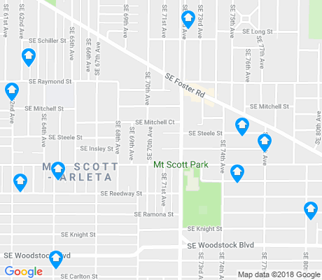 map of Mt. Scott-Arleta apartments for rent