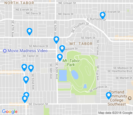 map of Mt. Tabor apartments for rent