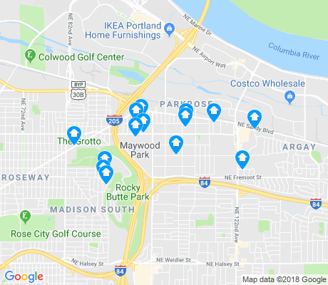 map of Parkrose apartments for rent