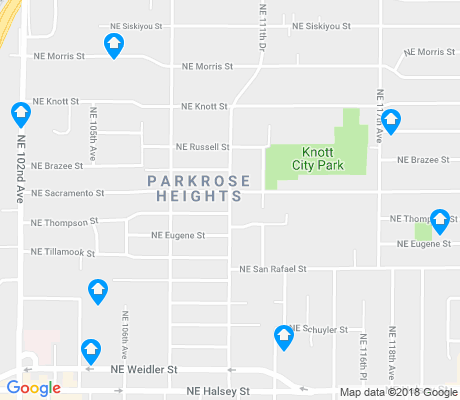 map of Parkrose Heights apartments for rent