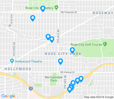map of Rose City Park apartments for rent