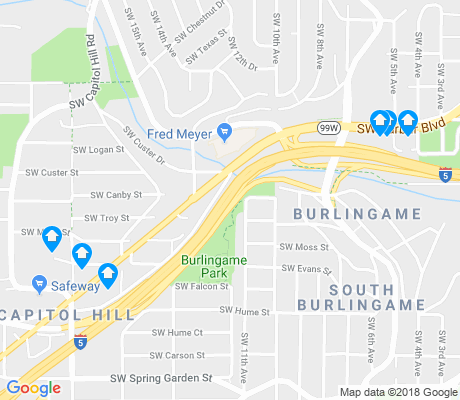 map of South Burlingame apartments for rent