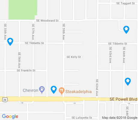 map of South Tabor apartments for rent