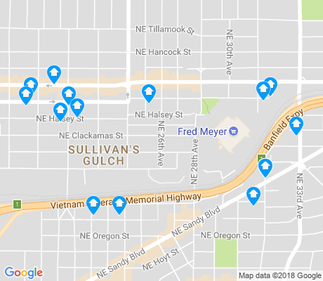 map of Sullivan's Gulch apartments for rent