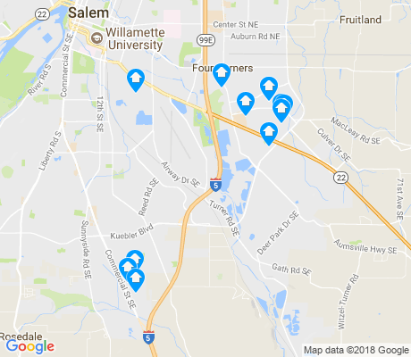 map of Southeast Mill Creek apartments for rent