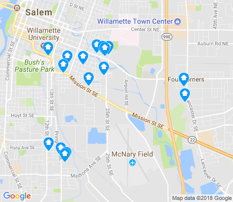 map of Southeast Salem apartments for rent