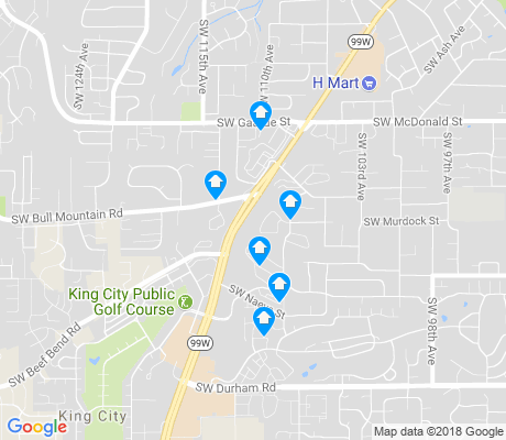 map of Tigard Neighborhood Area 12 apartments for rent