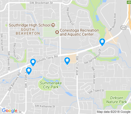 map of Tigard Neighborhood Area 2 apartments for rent