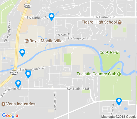 map of Tigard Neighborhood Area 9 apartments for rent