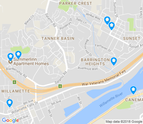 map of Willamette apartments for rent