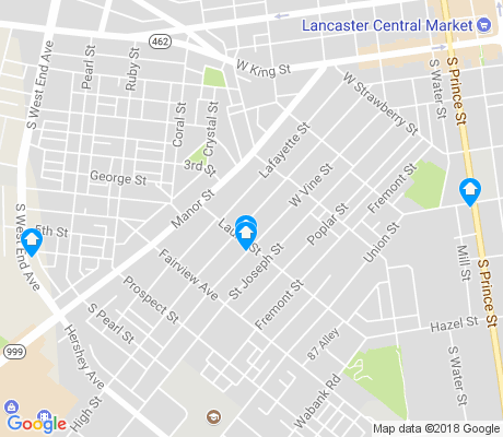 map of Prospect Heights apartments for rent