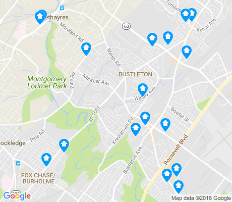 map of 19115 apartments for rent