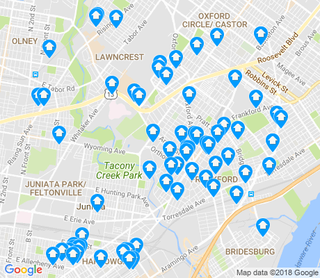 map of 19124 apartments for rent