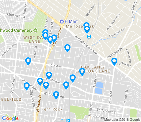map of 19126 apartments for rent
