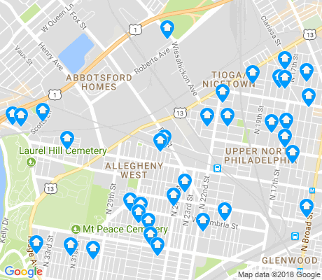 map of Allegheny West apartments for rent