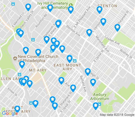 map of East Mount Airy apartments for rent
