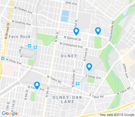 map of Olney apartments for rent