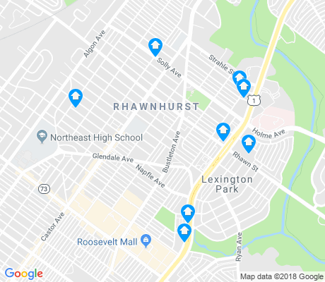 map of Rhawnhurst apartments for rent